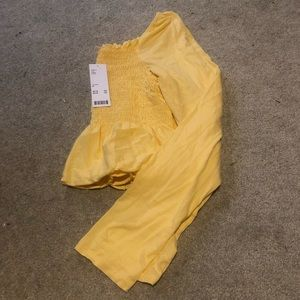 NWT Urban Outfitters smocked crop top